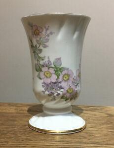 Vintage Royal Tara Vase Fine Bone China Made In Galway. White. 5.25Inch