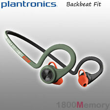 Plantronics BackBeat Fit Bluetooth Wireless Headset Waterproof Stealth Green