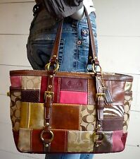 COACH Legacy Limited Edition Patchwork Tote Purse Hand Bag G06Q-10437