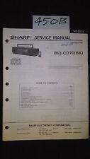 sharp wq-cd70 Service Manual Original Repair book boombox ghettoblaster radio cd