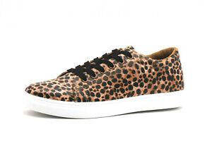 Sneaker Schuhe Damen Sportschuh Turnschuh Leopard Halbschuh Damenschuh Braun