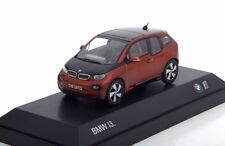 BMW I3 2014 ORANGE METAL BLACK I-SCALE 80422320105 1/43 NOIR SCHWARZ