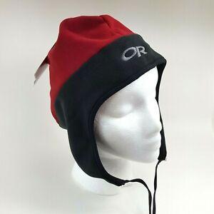 Outdoor Research Fleece Gore-Tex Windproof Beanie Size M Toboggan Hat Ski Cap
