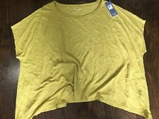 NWT Eileen Fisher Bateau Neck Short-Sleeve Box Top Plus Size 2X Linen Jersey