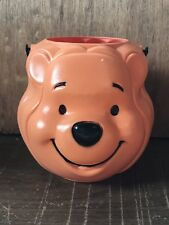 Vintage Disney Winnie The Pooh Halloween Orange Pail Bucket Candy New Old Stock