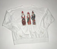 Vtg 3 wise men Christmas xmas crewneck Sweatshirt mens L white shirt long sleeve