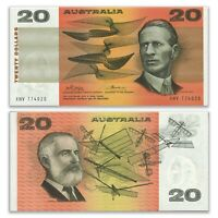 Australia 1974 $20 Paper Banknote Phillips/Wheeler XHV774020 R405 UNC #21