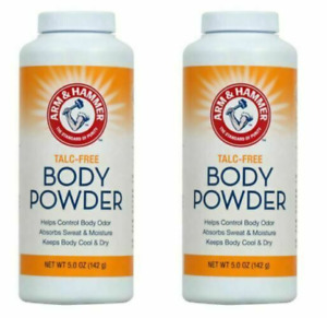 2X Arm & Hammer Talc-Free Body Powder Corn Starch Odor Control 5oz SAME-DAY SHIP