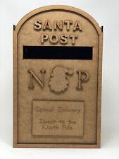 Santa Christmas post box. MDF. Christmas mail box. Santa postbox
