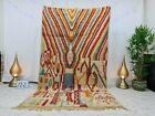 "Boujaad Moroccan Handmade Rug 5'3""x9'3"" Patchwork Berber Multicolor Wool Carpet"