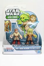 Playskool Star Wars Galactic Heroes Obi Wan Kenobi Kit Fisto Clone Wars 2 pack