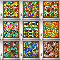 Window Films Stickers Foil Frosted Stained Church Glass PVC Self Adhesive Home