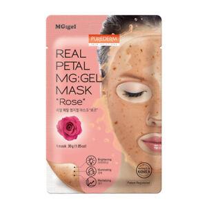 Purederm Real Petal MG:Gel Mask Rose 30g Brightening Illuminating Revitalizing