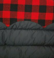 PENFIELD DOWN FILL PUFFER JACKET M w HOOD BLACK & RED CHECK BUFFALO PLAID