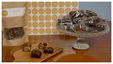 Greek Handmade Sweet Dessert Baklava Bites With Almond & Topping Chocolate 400gr