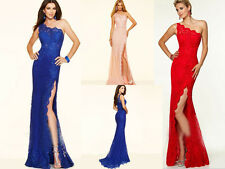 Long Lace Bridesmaid Dresses Wedding Formal Party Prom Dress Evening Ball Gown