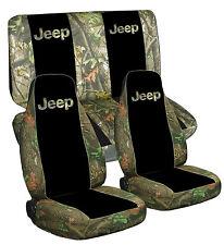 97-02 Jeep Wrangler TJ Seat Covers / Camo 100 Black Camo 100 DESIGN Front & Rear