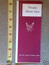 1971 PROSPECTUS EAGLE STAR INSURANCE COMPANY FOR PRIVATE MOTOR CARS - 2 SHEETS