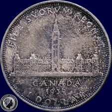 "1939 ""Royal Visit"" Canada Silver Dollar Coin (23.33 grams .800 Silver)"