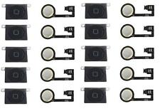 LOT OF 10 NEW BLACK Home Menu Button Flex Cable + Key Cap Assembly for iPhone 4S