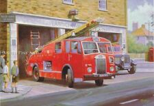 Old Dennis Fire Engine Birthday Card