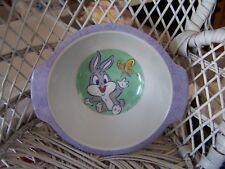 "Looney Toons Warner Brothers Baby Bugs Bunny Bowl 4"" diameter"