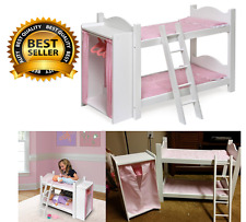 Doll Bed 18 Inch Bunk Storage Closet Clothes Ladder American Girl Pretend Play