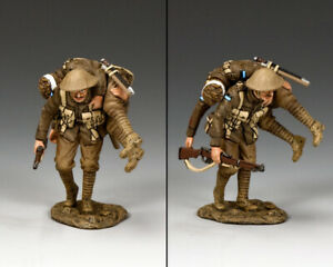 KING & COUNTRY FIRST WAR FW195-Q AUSTRALIAN QUEENSLAND 9TH CARRYING WOUNDED MIB