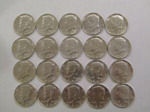 1964-D Roll of Kennedy Half Dollars 50c 90% Silver.... all BU