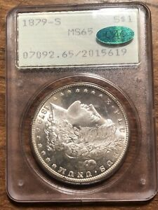 1879-S MORGAN DOLLAR - PCGS MS-65, CAC APPROVED! PQ & MS-66 QUALITY! RATTLER!