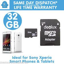 32GB Micro SD Memory Card for Sony Xperia Z2 Z1 SP E1 M M2 TX Z & Compact *New
