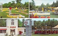 MI Beulah CRYSTAL PARK Amusement Park TRAIN RAILWAY 1966-71 MINT postcard M07