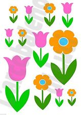 12 ADESIVI WINDOW STICKERS FINESTRA FIORI FLOWER FLOWERS FINESTRE VETRI