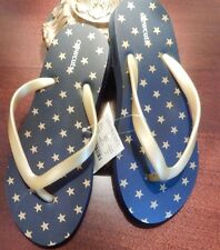 NWT 1 Crewcuts Navy Blue Flip Flops w/ Gold Stars Boy OR Girl