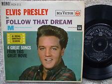 Elvis Presley - Follow That Dream - U.K 1964 Extended Play -  RCX- 211