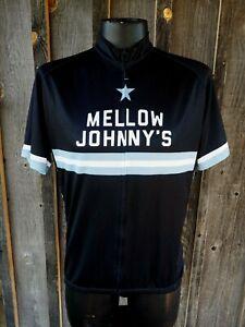 Men's Giordana Mellow Johnny's Black Race Stripe Ride Fit Cycling Jersey 3XL