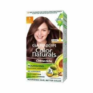 3 pack Garnier Naturals Crème Hair Color Shade 5 Light Brown,70ml+60g