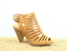 Women's Buckle Open Toe Slingback Chunky Heel Sandals Shoes Size 5.5 - 10 NEW
