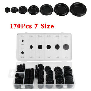 Car 170Pcs 7 Size Rubber Grommet Firewall Hole Plug Set Electrical Wire Gasket