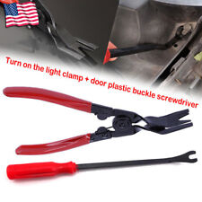 2Pcs Car Exterior Door Removal Tool Clip Removal Pliers Dashboard Panel Pry Tool