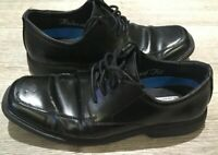 Skechers Mens Memory Foam Relaxed fit Black Leather Dress Shoes Size UK 8.5