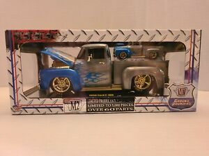 1956 Ford F-100 RAW CHASE 1/24 M2 Machines Ground Pounders Die-Cast