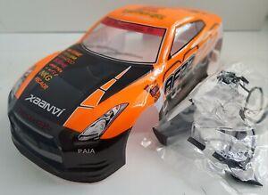 1/10 RC car 190mm on road drift Nissan GT R35 Body Shell Orange