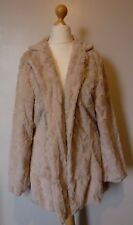 Pistachio Faux Fur Coat Jacket Fully Lined Size Large BNWT RRP £79.99 Mink