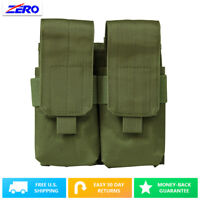 Green Quad Standard or Box Type Rifle Magazine MOLLE PALS Pouch Removeable Flap