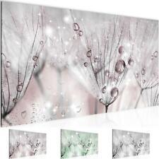 Wandbild XXL Modern Wohnzimmer - Pusteblume Rosa Grau - Schlafzimmer Deko Bilder