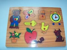 Childrens Wooden Finger Learning Puzzle