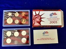 2005 US Silver Proof Set w/ OGP & COA