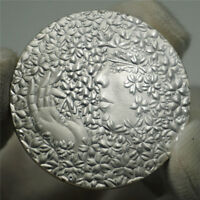 Japan National flower cherry goddess commemorative coin Silver