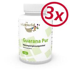 3 Pack Guarana pure 500mg 360 Capsules Vita World German pharmacy production